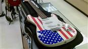 INDIANA GUITAR STRAT COPY AMERICAN FLAG